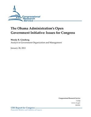 The Obama Administration's Open Government Initiative: Issues for Congress