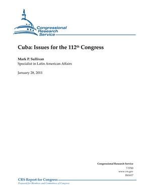 Cuba: Issues for the 112th Congress