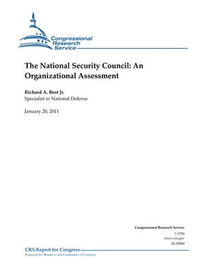 The National Security Council: An Organizational Assessment