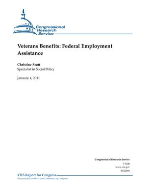 Veterans Benefits: Federal Employment Assistance