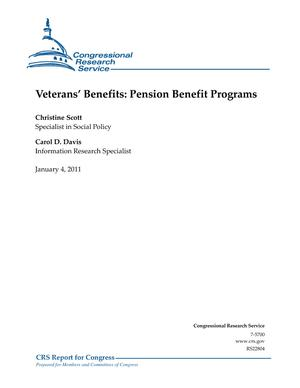 Veterans' Benefits: Pension Benefit Programs