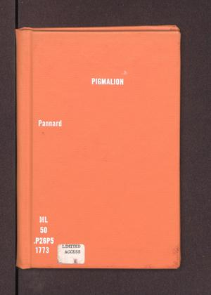 Primary view of object titled 'Pigmalion'.