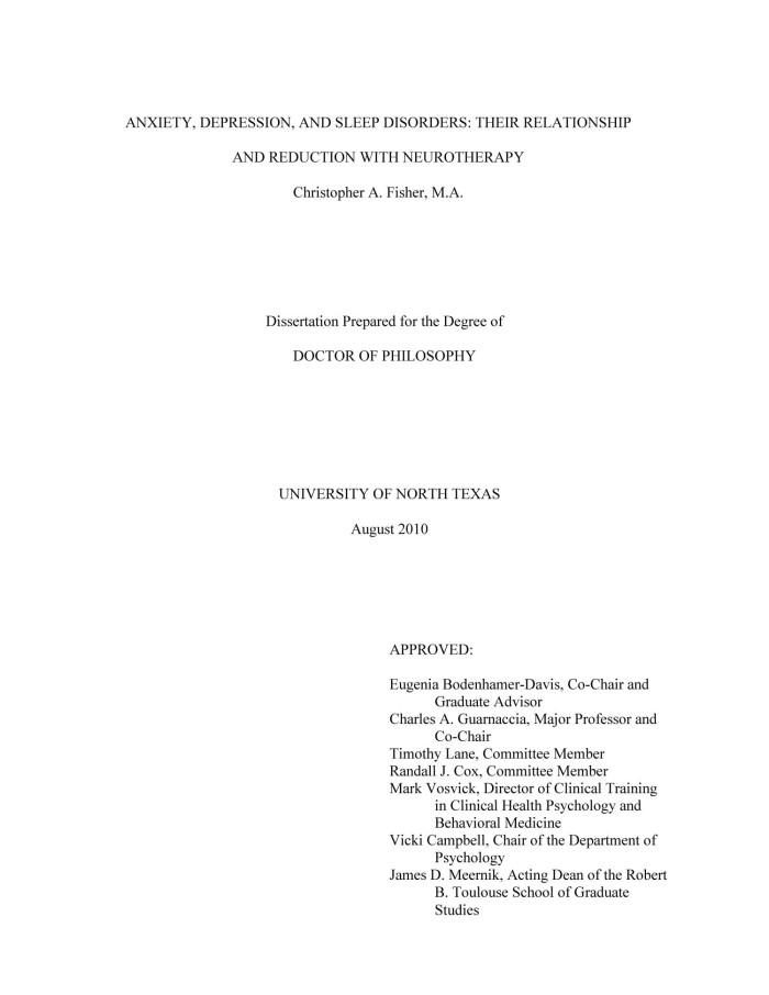 post dissertation depression