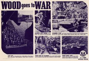 Primary view of object titled 'Wood goes to war.'.
