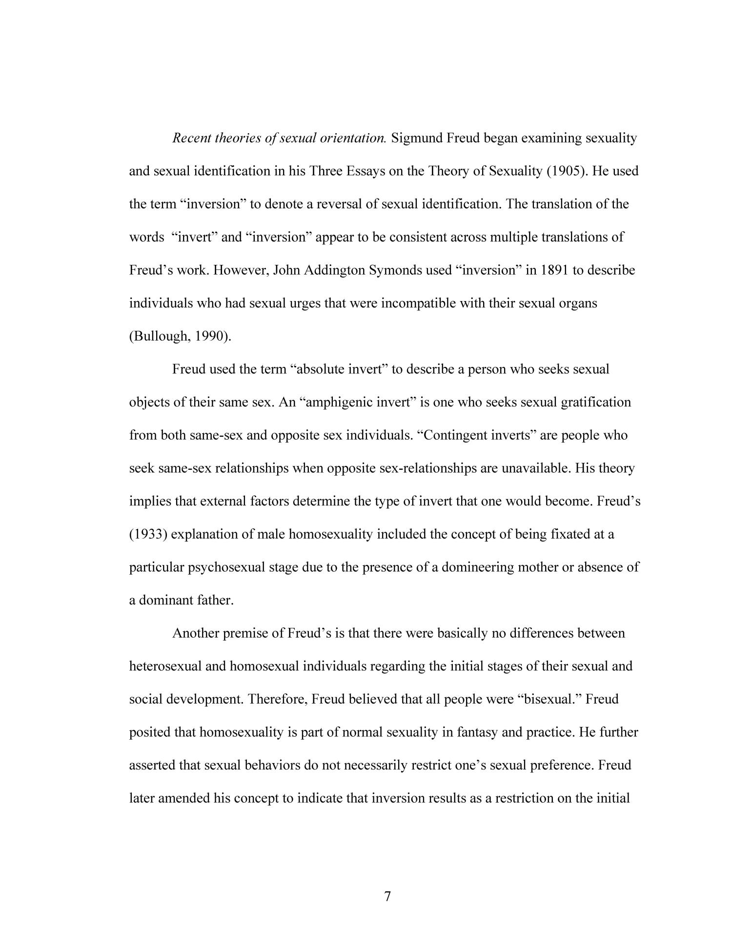 Freud essays on sexuality inversion