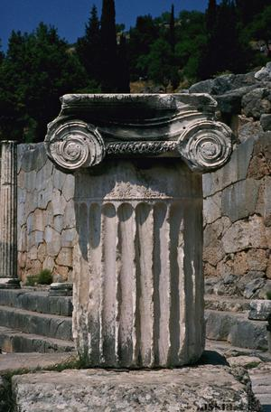Sanctuary of Apollo, Ionic Column and Capital