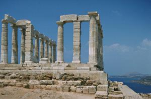 Temple at Sounion in Sanctuary of Poseidon