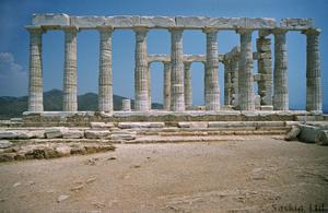 Primary view of object titled 'Temple at Sounion in Sanctuary of Poseidon'.