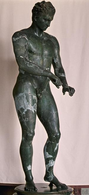 Primary view of object titled 'Athlete from Ephesus'.