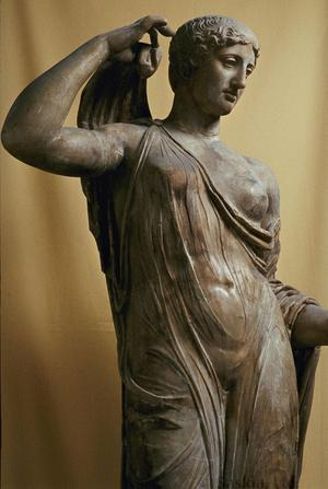 Primary view of object titled 'Roman copy of Greek Aphrodite Genetrix'.