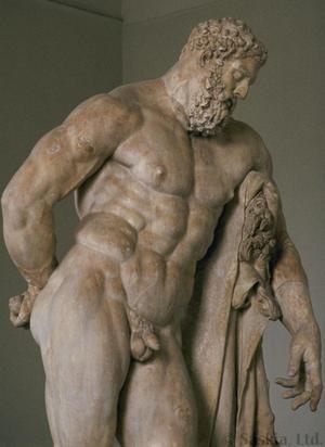 Primary view of object titled 'Farnese Hercules from the Baths of Carcalla'.