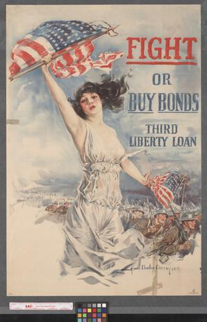 Primary view of object titled 'Fight or buy bonds : Third Liberty Loan.'.