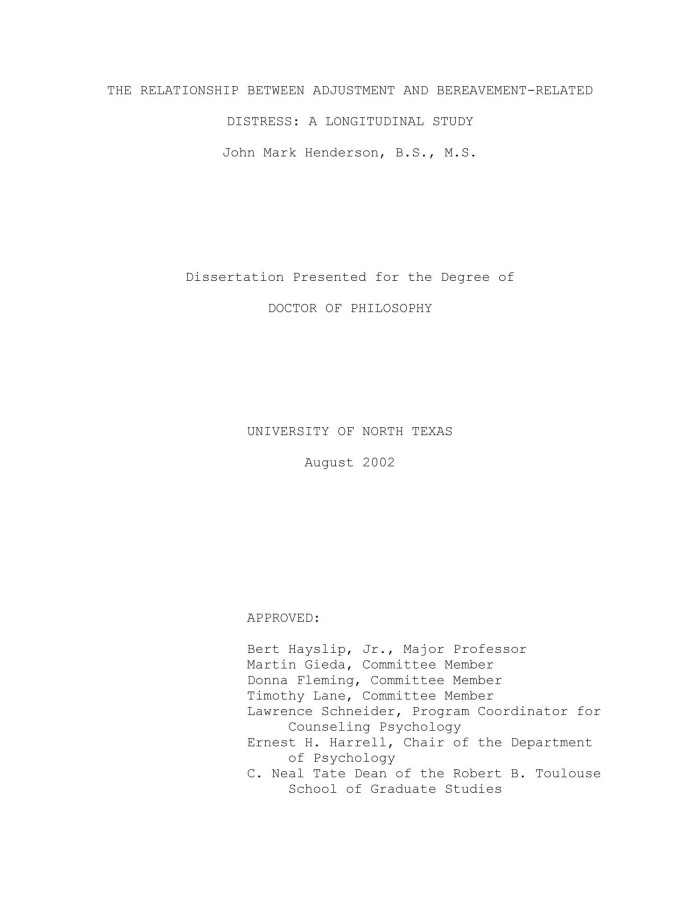 psychology dissertations on relationships