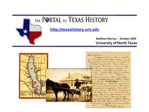 Primary view of object titled 'The Portal to Texas History'.