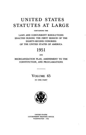United States Statutes at Large, Volume 65, 1951