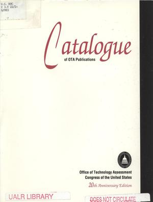 Primary view of object titled 'Catalog of OTA Publications'.