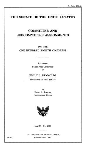 Primary view of object titled 'Committee and Subcommittee Assignments for the 108th Congress'.