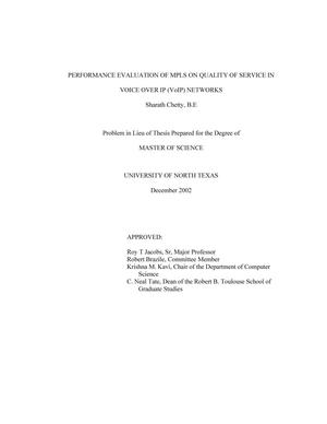 qos mpls thesis Unesco – eolss sample chapters telecommunication systems and technologies - vol ii - quality of service in telecommunication networks.