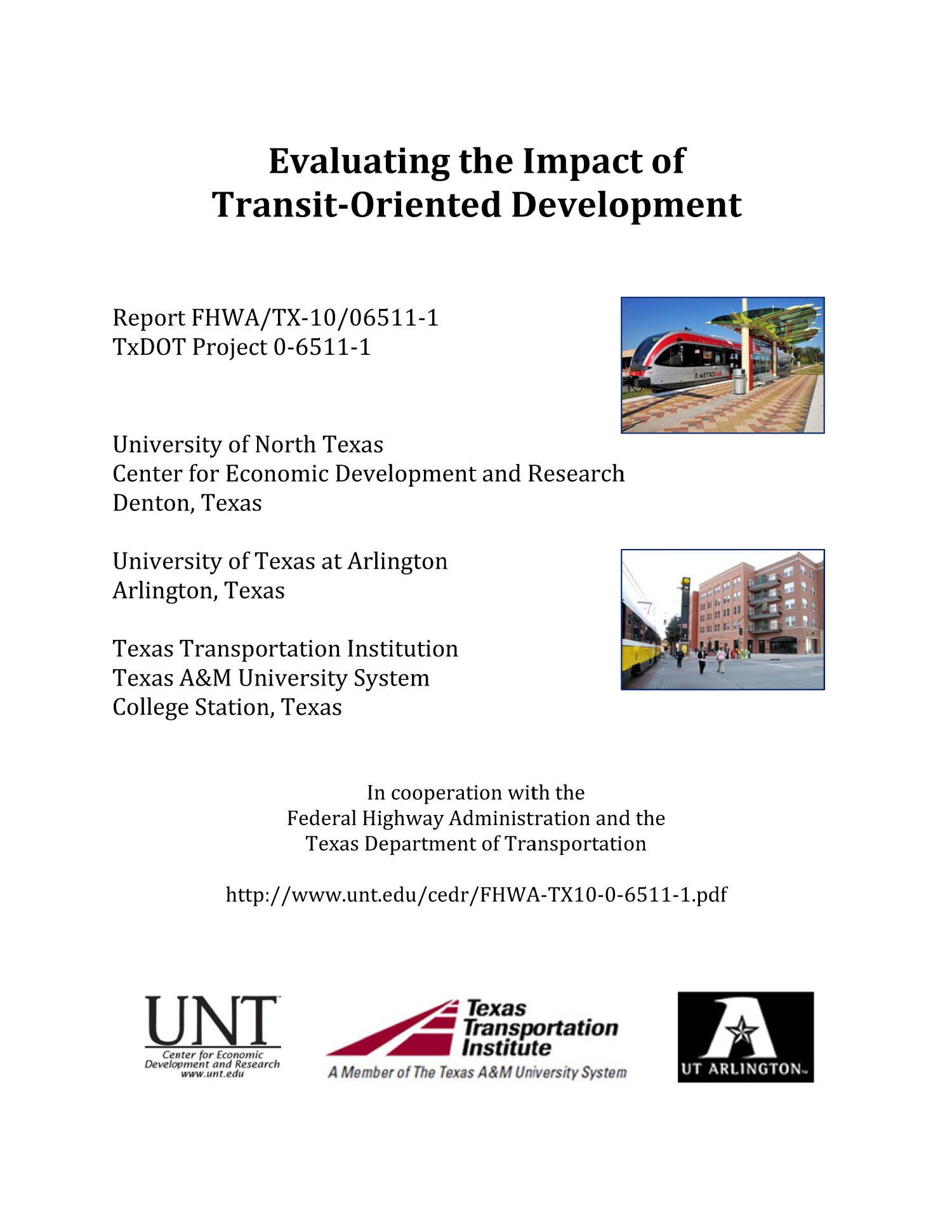 Evaluating the Impact of Transit-Oriented Development                                                                                                      Front Cover