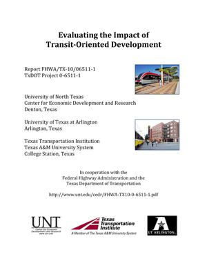 Primary view of object titled 'Evaluating the Impact of Transit-Oriented Development'.
