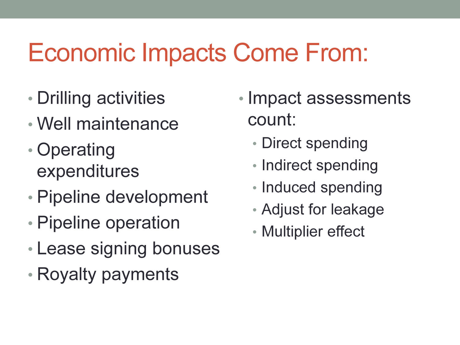 Economic Impacts of the Natural Gas Industry in North Texas                                                                                                      [Sequence #]: 4 of 11