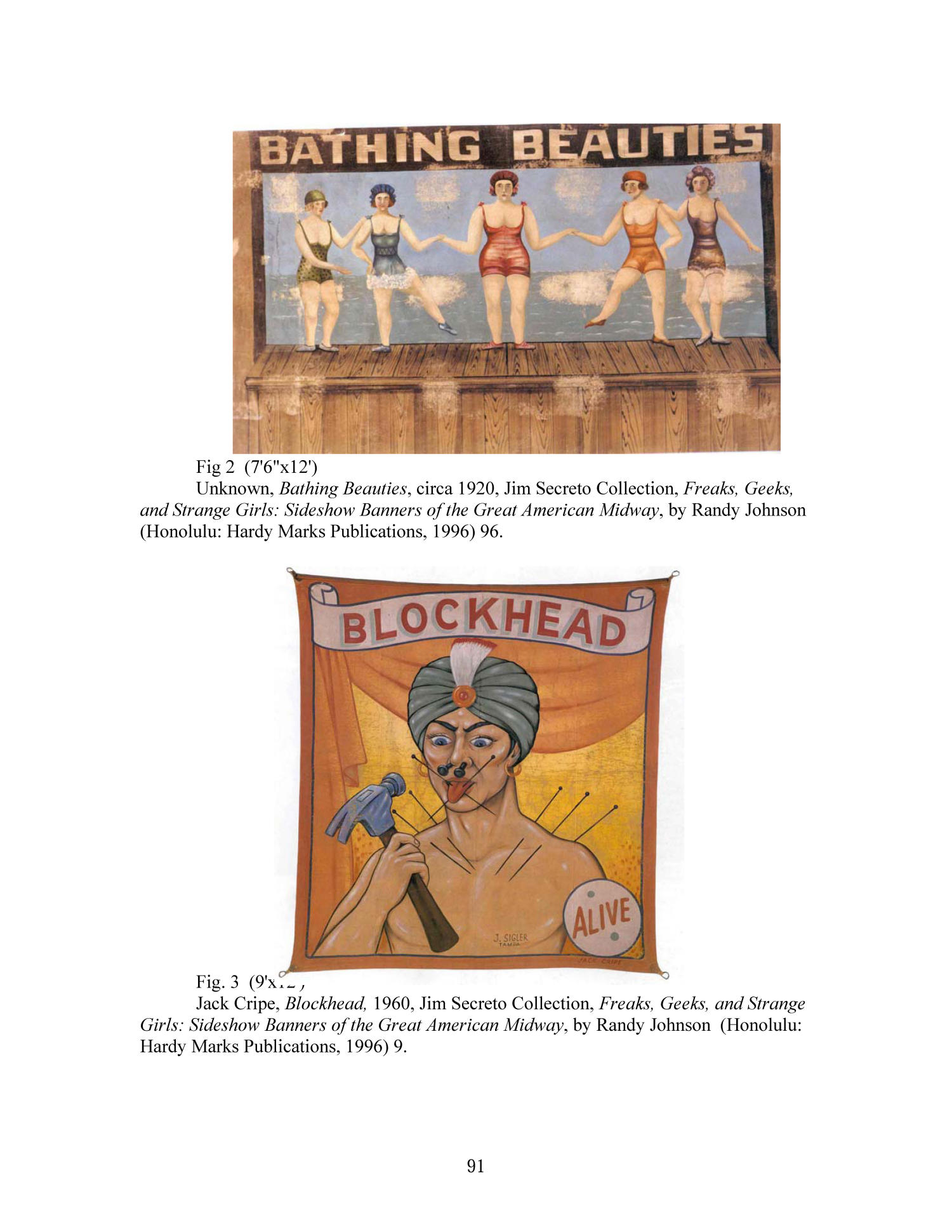 An Examination of American Sideshow Banners as Folk Art, ca. 1920-1960                                                                                                      91