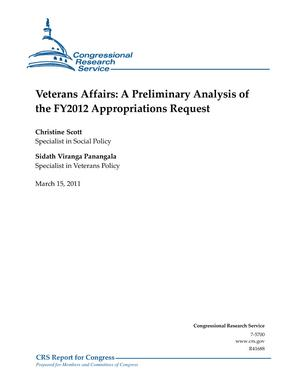 Veterans Affairs: A Preliminary Analysis of the FY2012 Appropriations Request