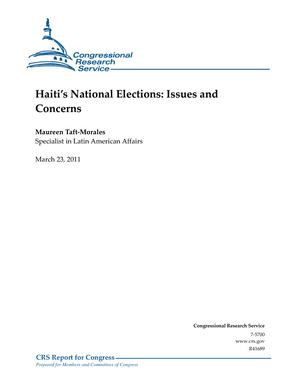 Haiti's National Elections: Issues and Concerns