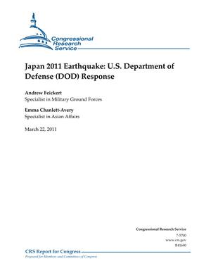 Japan 2011 Earthquake: U.S. Department of Defense (DOD) Response