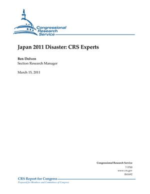 Japan 2011 Disaster: CRS Experts