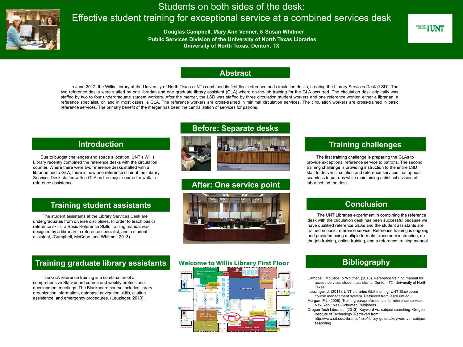 Students On Both Sides Of The Desk Effective Student Training For Exceptional Service At A Combined Services Poster Digital Library