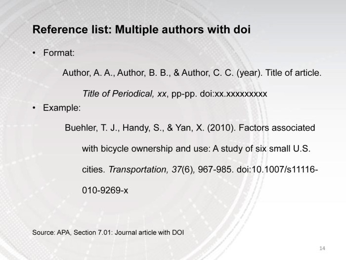 Apa reference with doi