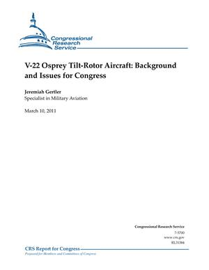 V-22 Osprey Tilt-Rotor Aircraft: Background and Issues for Congress