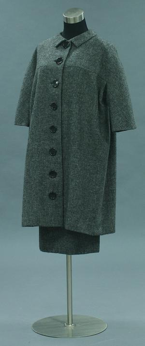 Primary view of object titled 'Ensemble - Coat Dress and Skirt'.