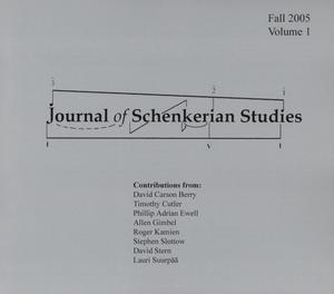Primary view of object titled 'Journal of Schenkerian Studies, Volume 1, Fall 2005'.