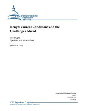 Kenya: Current Conditions and the Challenges Ahead