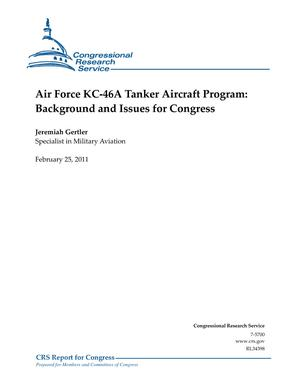 Air Force KC-46A Tanker Aircraft Program: Background and Issues for Congress