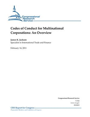 Codes of Conduct for Multinational Corporations: An Overview