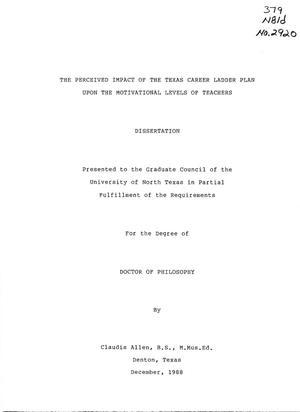 Dissertation on teacher perceptions