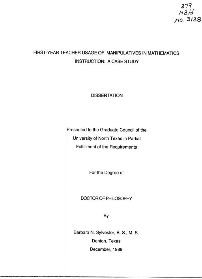 Mathematics dissertation purpose of dissertation