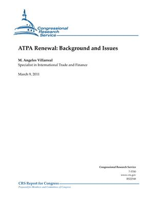 ATPA Renewal: Background and Issues
