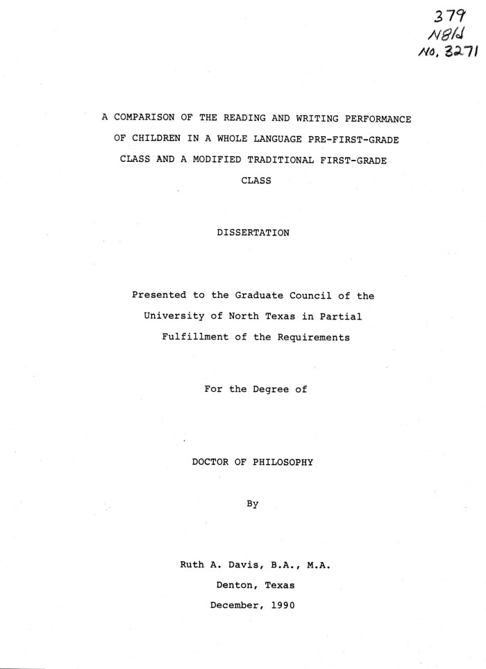 Dissertation first capstone research paper