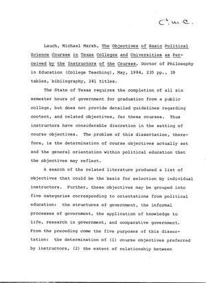 political science dissertation