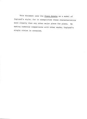 characteristics of a sonata
