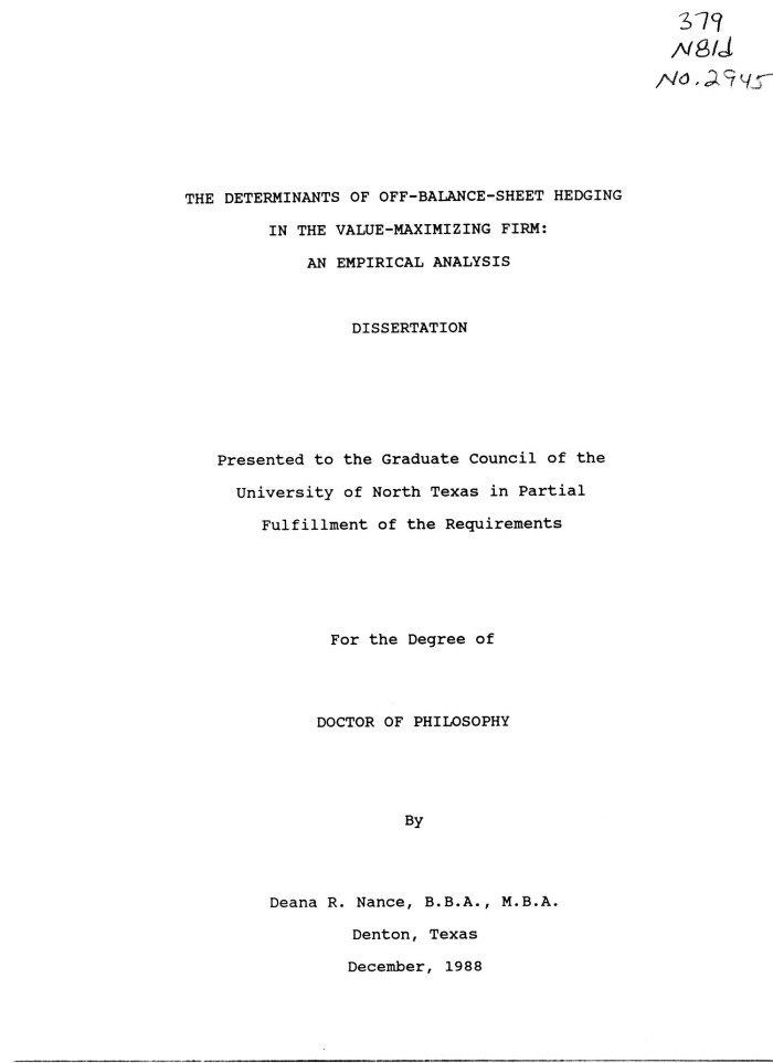 empirical review dissertation Literature review and policy context since there is no major empirical component to the dissertation, the examiners will pay particular attention to matters of.