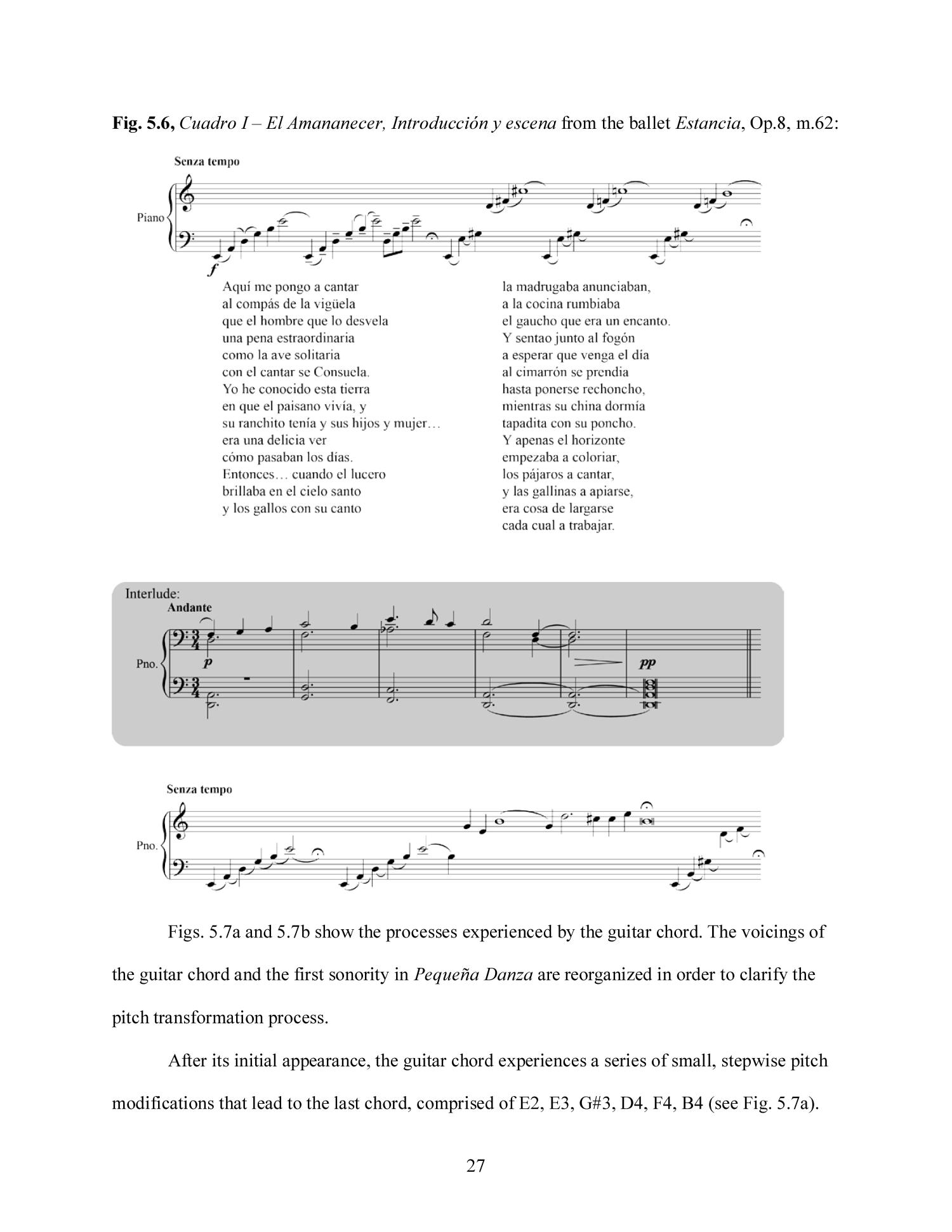 Alberto Ginastera And The Guitar Chord An Analytical Study Page