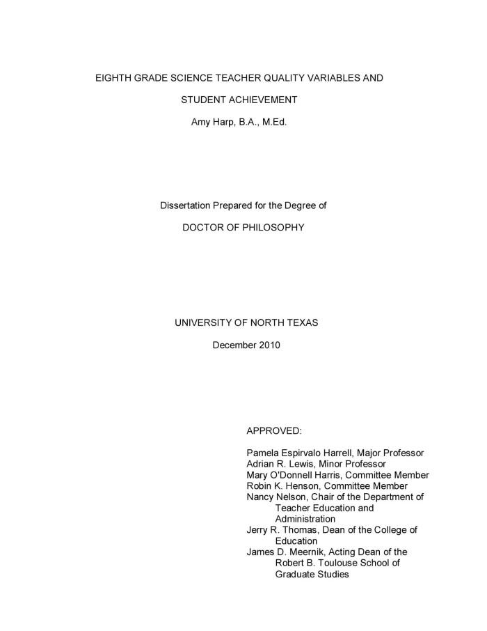 Dissertation student achievement buying college reports