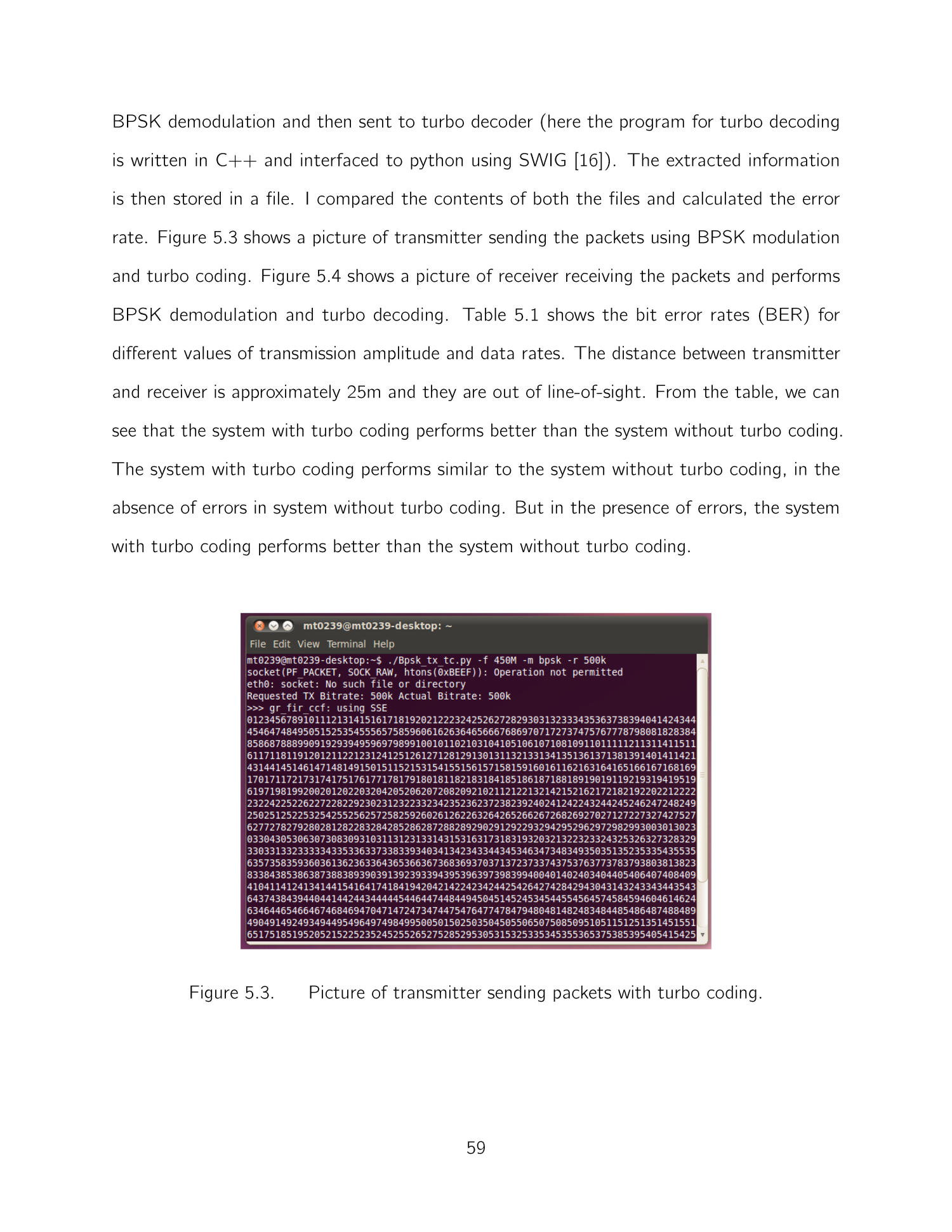 Implementation of Turbo Codes on GNU Radio - Page 59