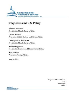 Iraq Crisis and U.S. Policy
