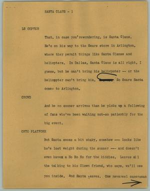 Primary view of object titled '[News Script: Santa Claus]'.